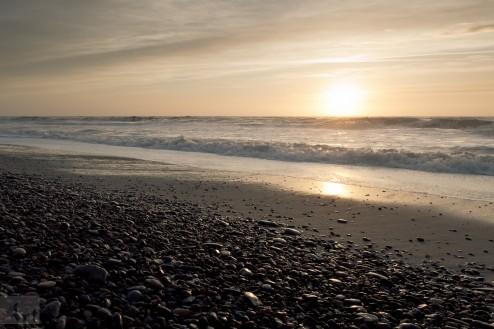 Sandsteinstrand an der dänischen Nordseeküste