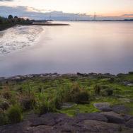 Langzeitbelichtung der Elbe