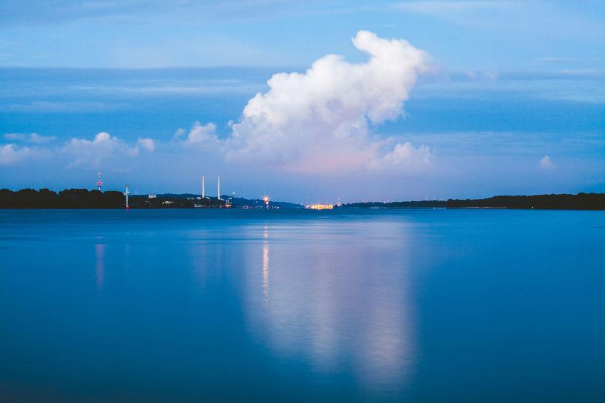 Wolken in Seepferdchenform