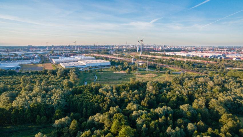 Luftbild Richtung Altenwerder
