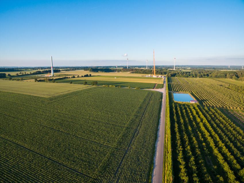 Zufahrtswege zum Windpark Daensen