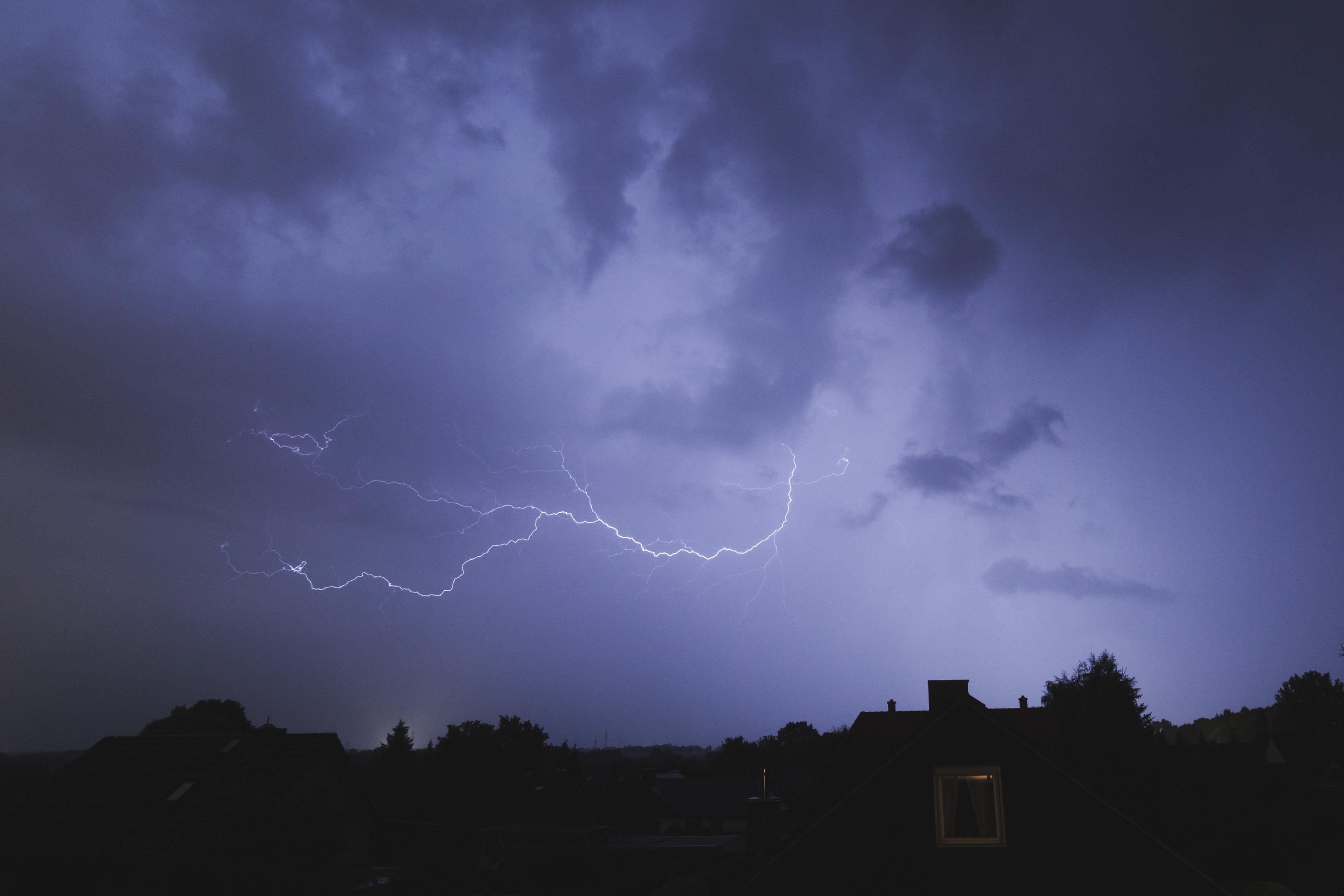 Gewitter auf der A1