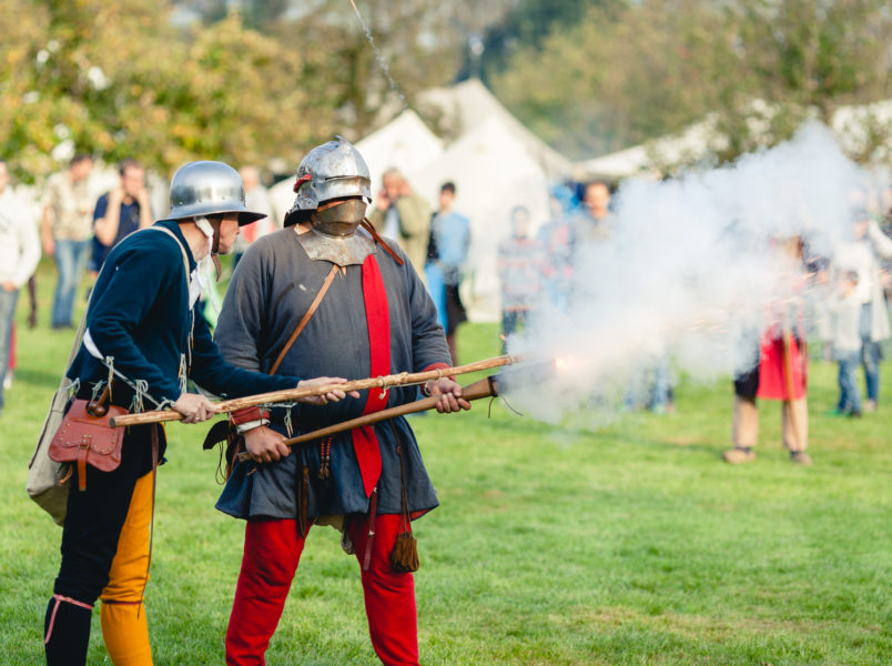 Böllerschützen auf dem Blidenfest