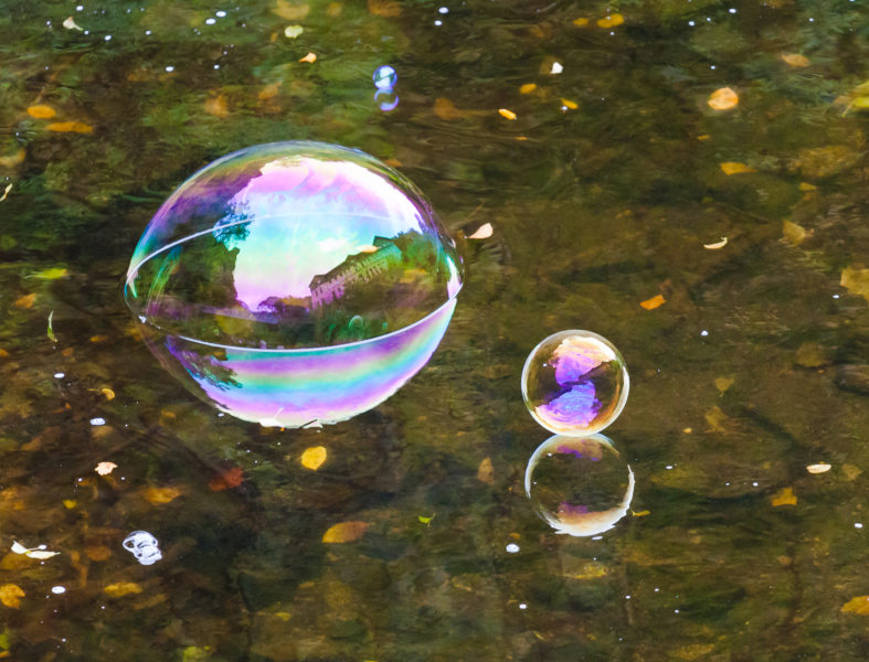 Drei Seifenblasen