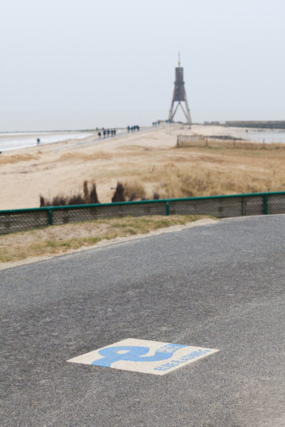 Elberadweg bei der Kugelbake Cuxhaven