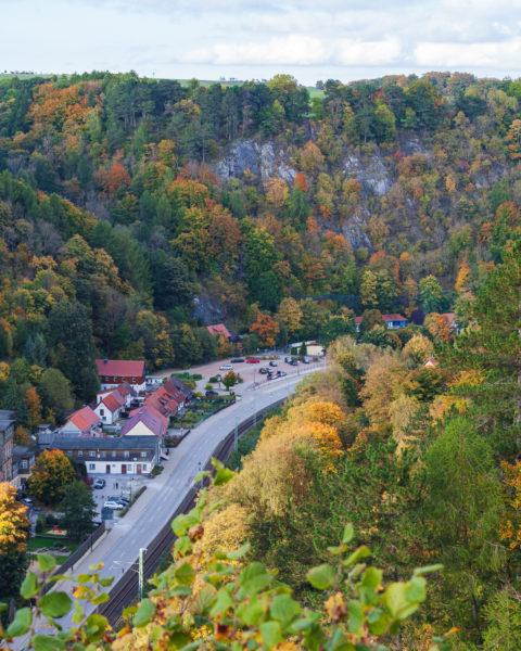 Blick auf Rübeland im Tal