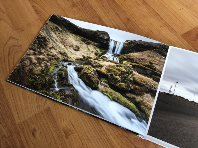 Rahmenloses Bild im Fotobuch