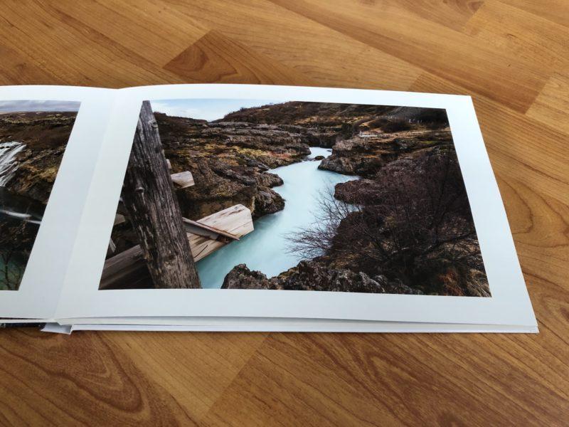 Bild mit Rahmen im Fotobuch